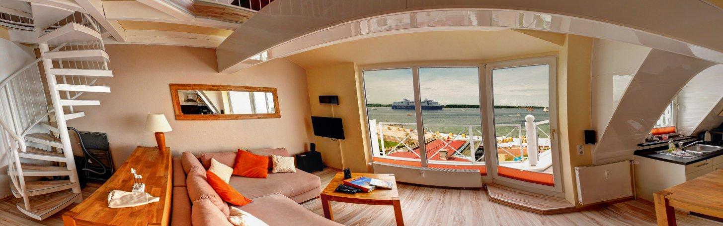 Ferienwohnung 'Strandkoje'  am Ostsee-Strand von Laboe